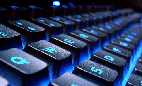 Lit up computer keyboard